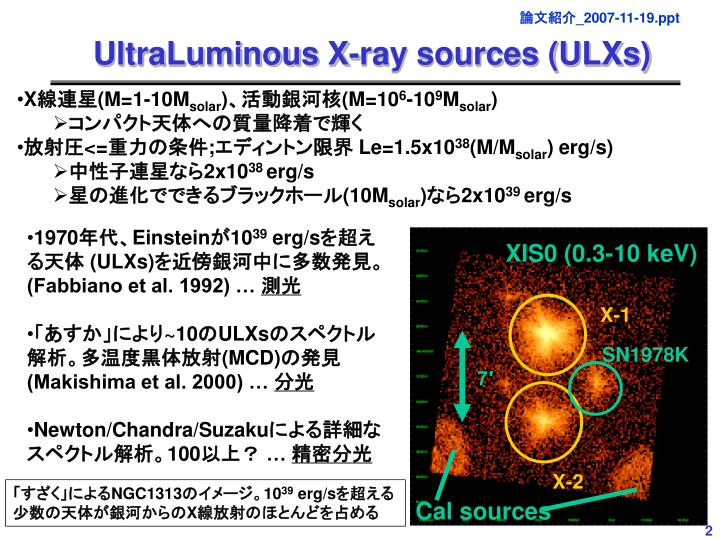 UltraLuminous X-ray sources (ULXs)