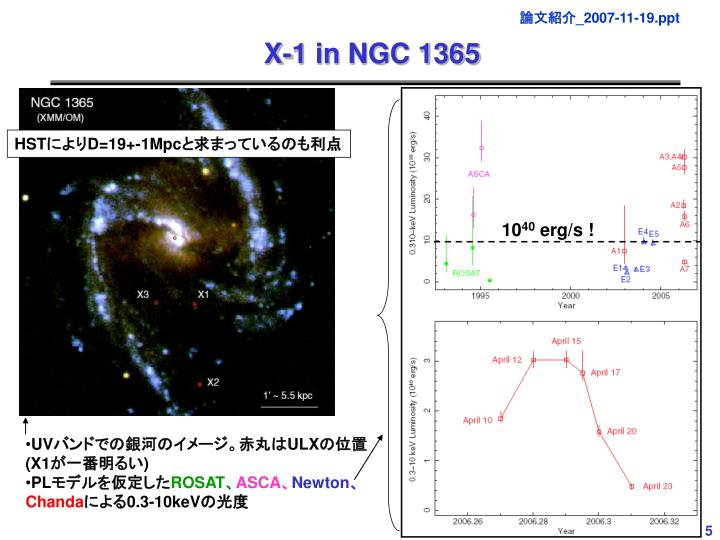 X-1 in NGC 1365