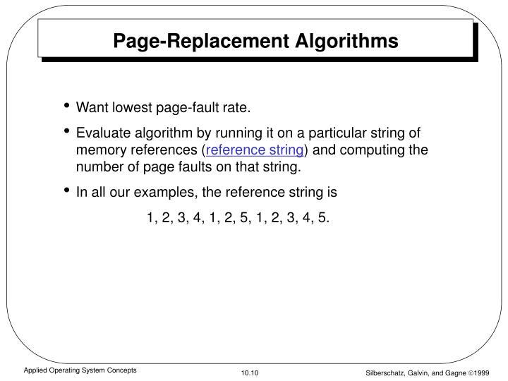 Page-Replacement Algorithms