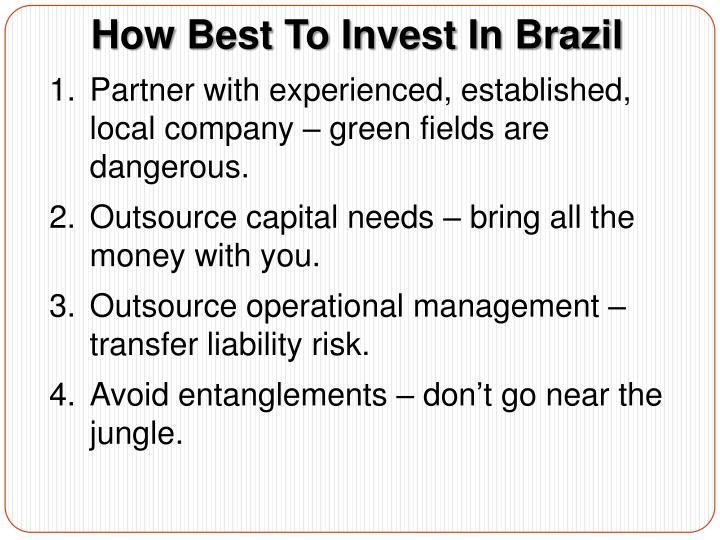How Best To Invest In Brazil