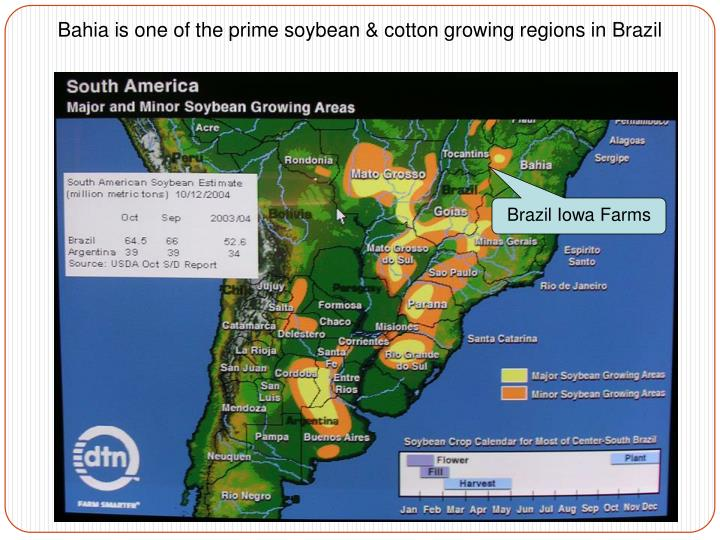 Bahia is one of the prime soybean & cotton growing regions in Brazil
