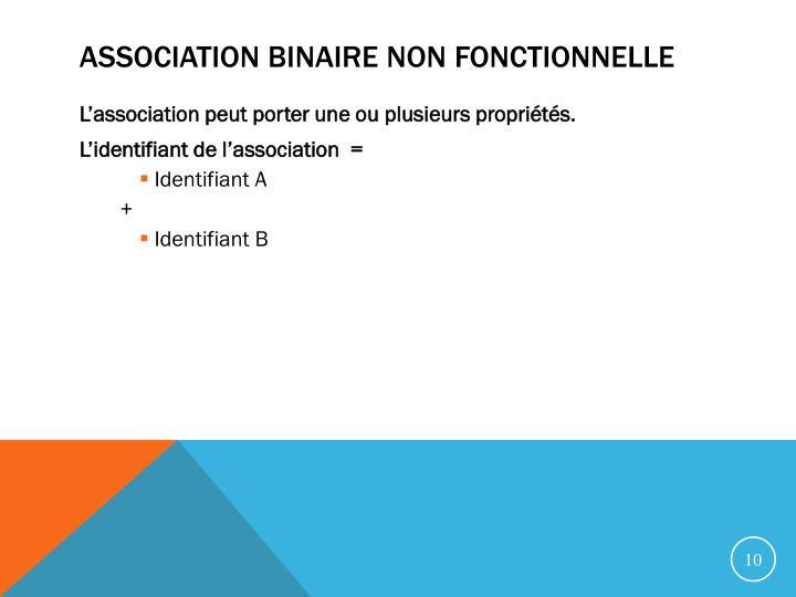 Association binaire non fonctionnelle