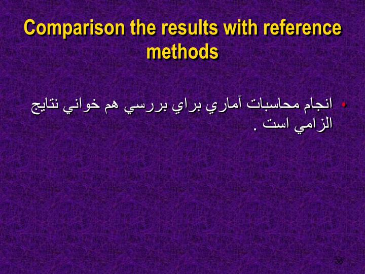 Comparison the results with reference methods