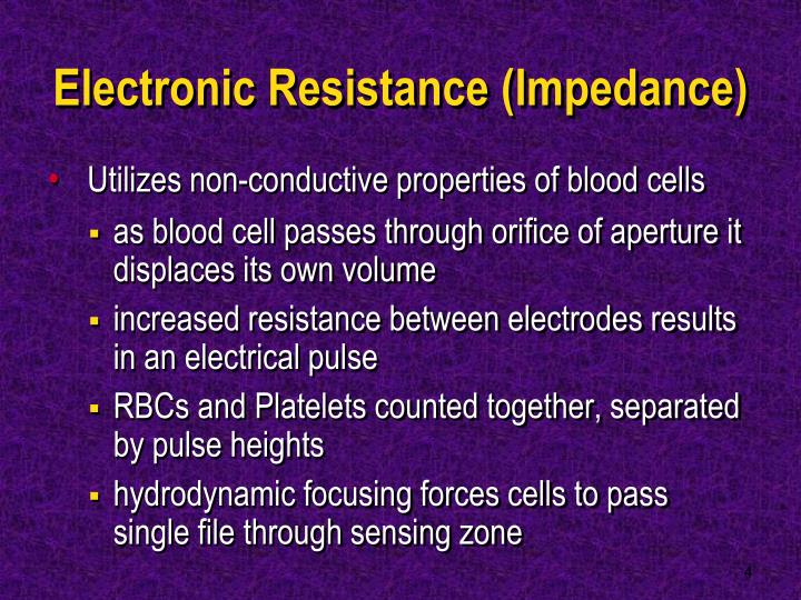 Electronic Resistance (Impedance)