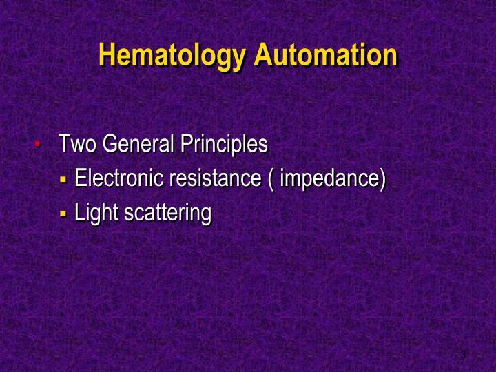 Hematology Automation