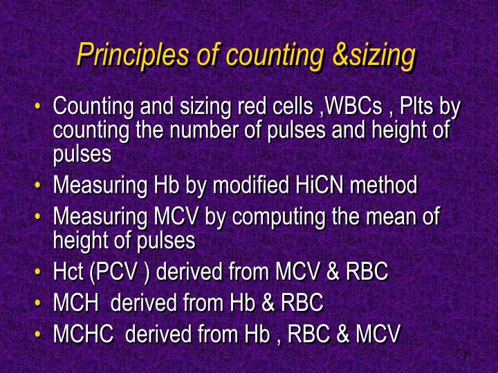 Principles of counting &sizing
