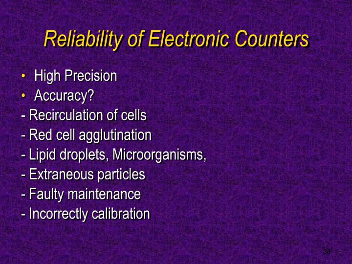 Reliability of Electronic Counters