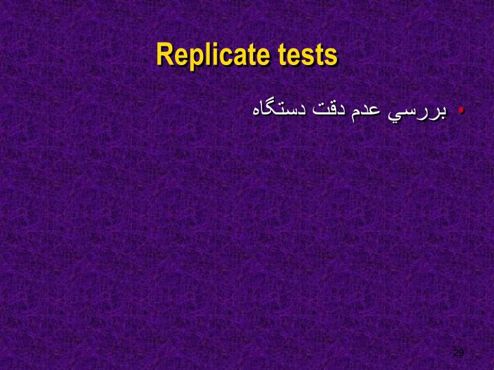Replicate tests