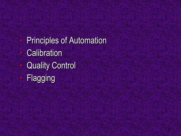 Principles of Automation