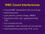 wbc count interferences