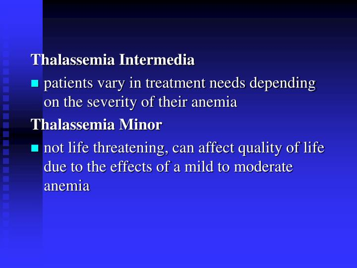 Thalassemia Intermedia