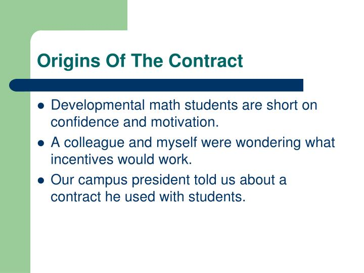 Origins Of The Contract