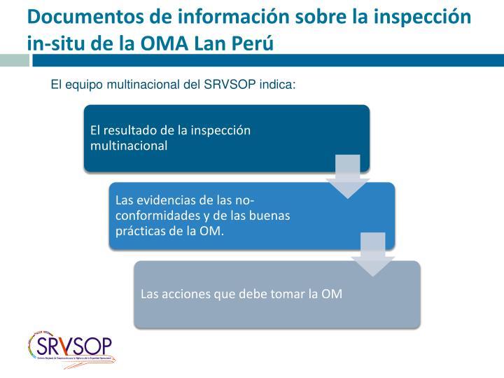 Documentos de información sobre la inspección in-situ de la OMA Lan Perú