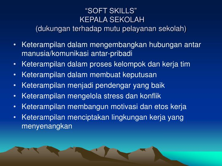 """SOFT SKILLS"""