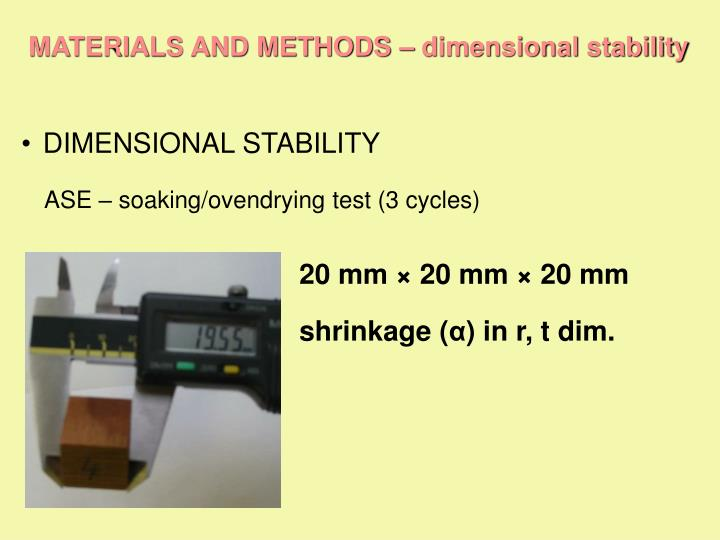 MATERIALS AND METHODS –