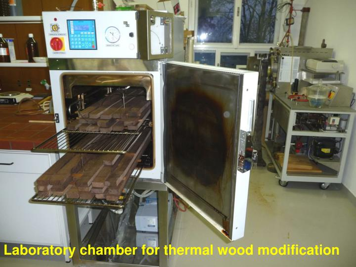 Laboratory chamber for thermal wood modification