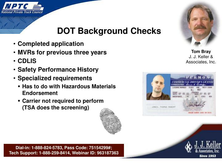 DOT Background Checks
