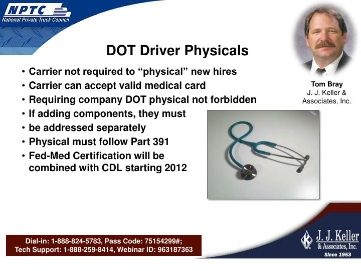 DOT Driver Physicals