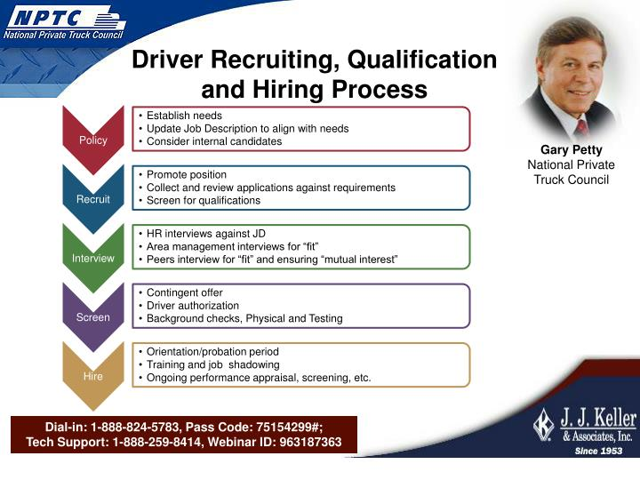 Driver Recruiting, Qualification and Hiring Process