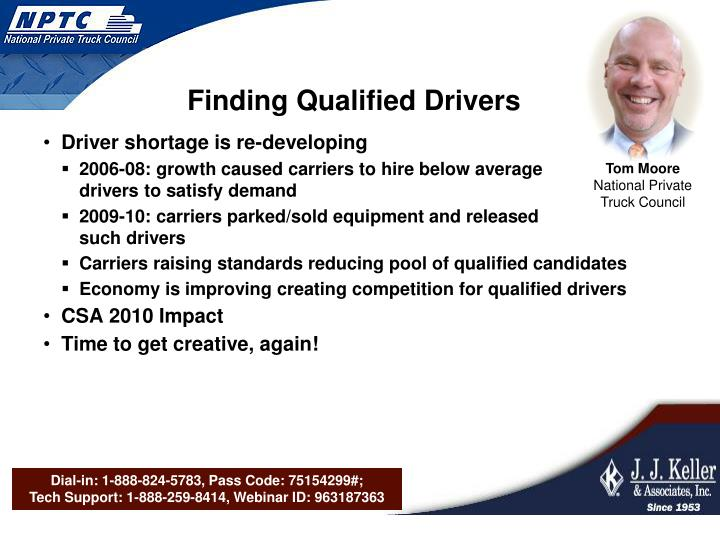 Finding Qualified Drivers
