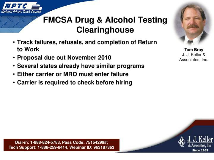 FMCSA Drug & Alcohol Testing Clearinghouse