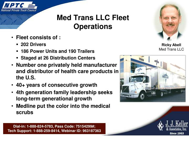 Med Trans LLC Fleet Operations