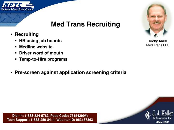 Med Trans Recruiting