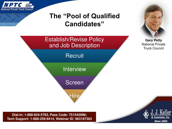 "The ""Pool of Qualified Candidates"""