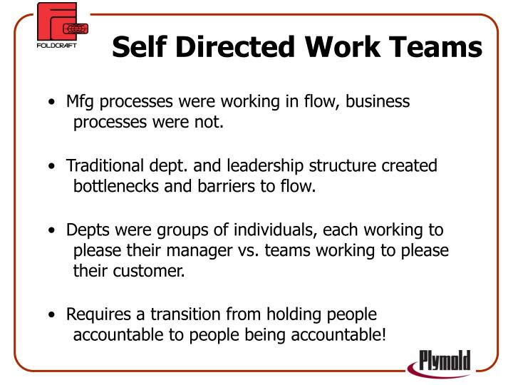 Self Directed Work Teams