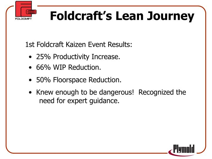 Foldcraft's Lean Journey