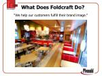 what does foldcraft do