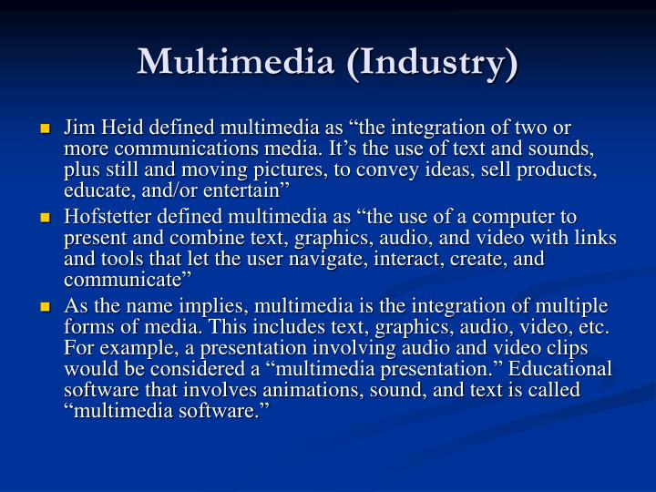 Multimedia (Industry)