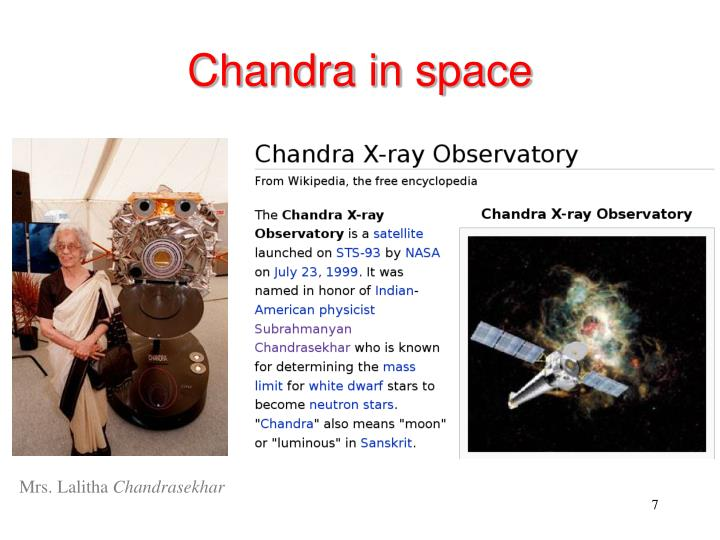 Chandra in space