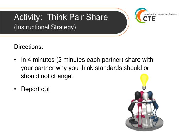 Activity:  Think Pair Share