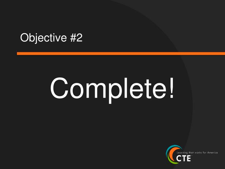 Objective #2