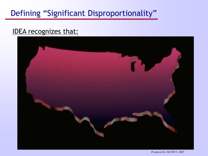 "Defining ""Significant Disproportionality"""