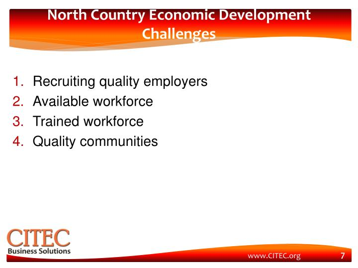 North Country Economic Development Challenges
