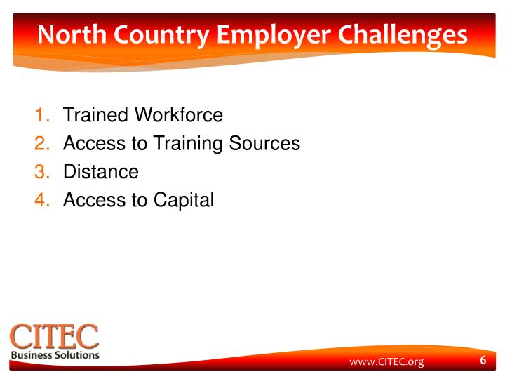North Country Employer Challenges