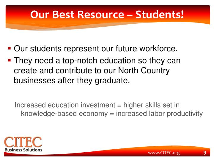 Our Best Resource – Students!
