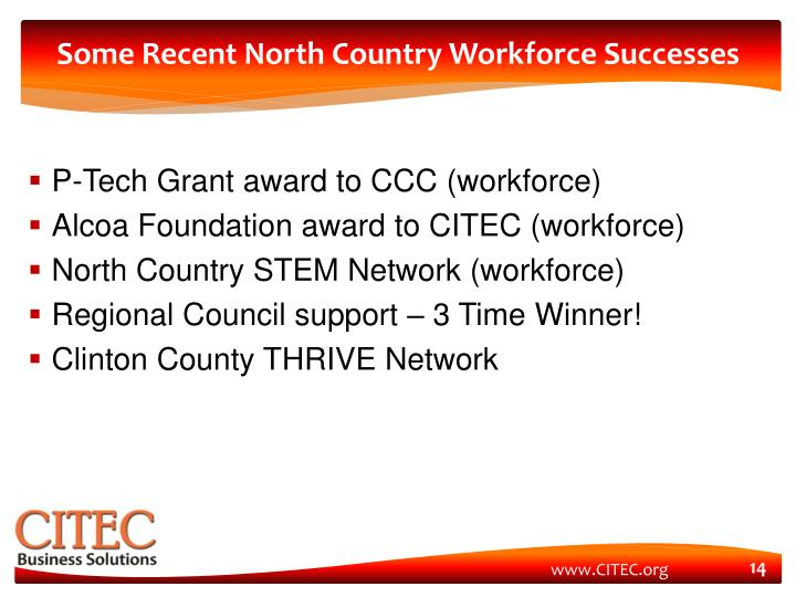 Some Recent North Country Workforce Successes