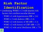 risk factor identification2