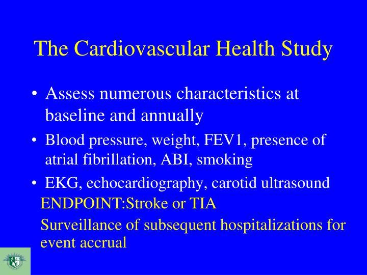 The Cardiovascular Health Study