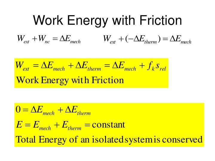 Work Energy with Friction