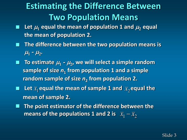 Estimating the Difference Between
