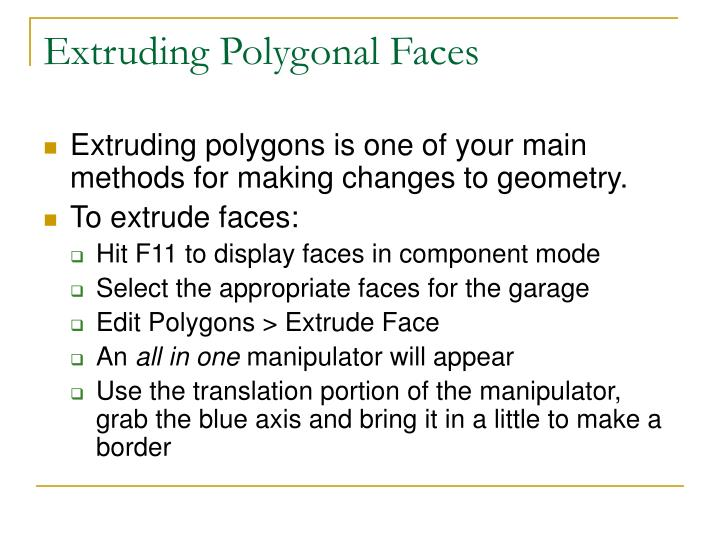 Extruding Polygonal Faces