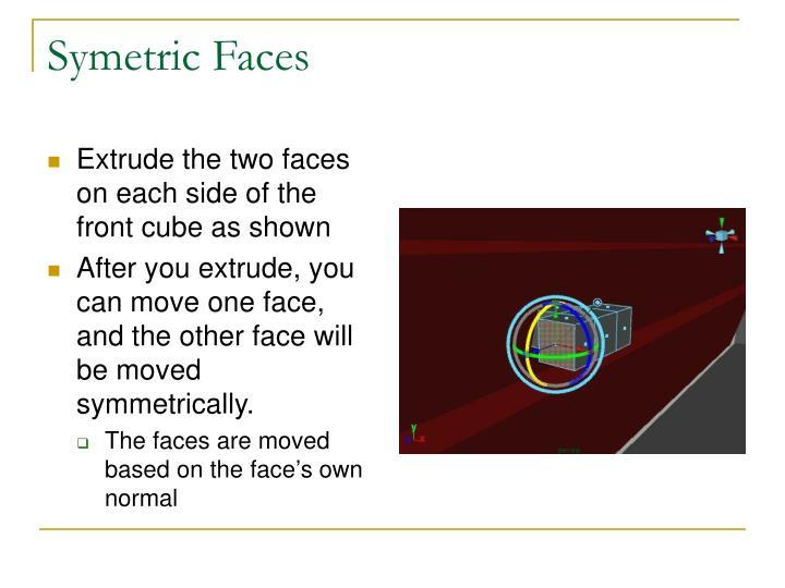Symetric Faces