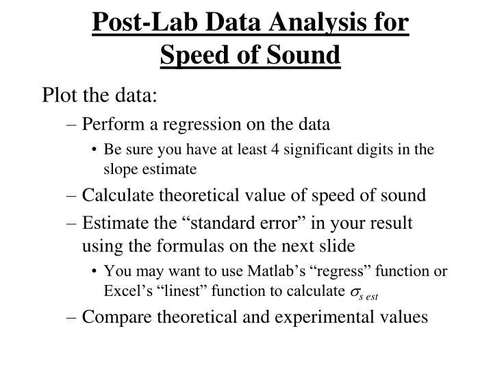 Post-Lab Data Analysis for
