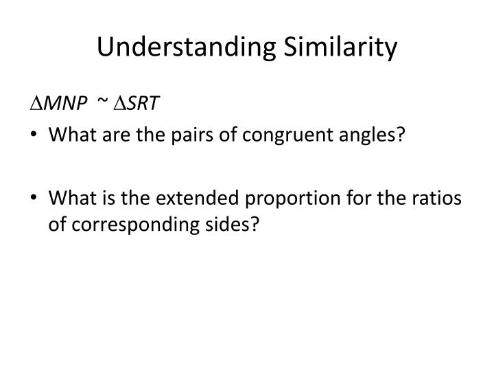 Understanding Similarity