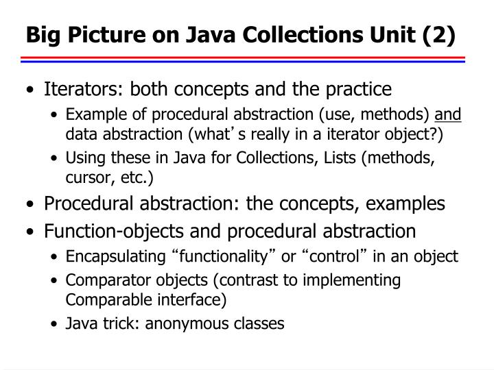 Big Picture on Java Collections Unit (2)