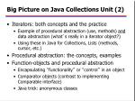 big picture on java collections unit 2